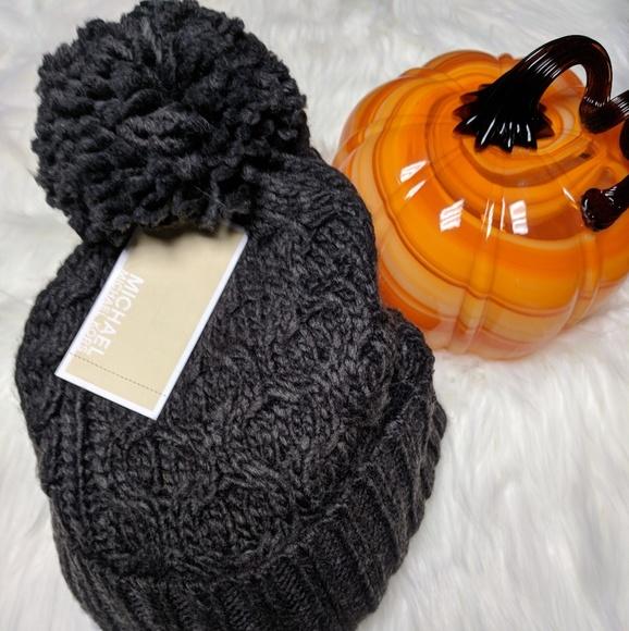 Michael Kors cable knit pom-pom beanie hat 0a9484ecd36